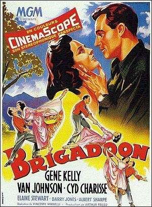One of the old movie posters from Brigadoon from the 1950s