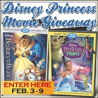 Disney Princess Movie Giveaway